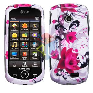 For Samsung Solstice II 2 A817 Cover Hard Case W-Flower