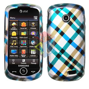 For Samsung Solstice II 2 A817 Cover Hard Case Plaid