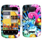 For Motorola Citrus WX445 Cover Hard Case A-Flower