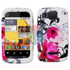 For Motorola Citrus WX445 Cover Hard Case W-Flower