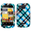 For Motorola Citrus WX445 Cover Hard Case Plaid
