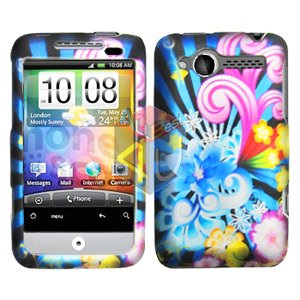 For HTC Wildfire 6225 Cover Hard Case A-Flower