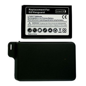For HTC Desire Z Extended Replacement Battery Li-ion-2600mah w/ Door
