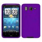 FOR HTC Inspire 4G Silicon cover case Purple