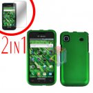 For Samsung Galaxy S 4G Screen Protector +Cover Hard Case Rubberized Green