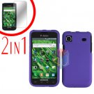 For Samsung Galaxy S 4G Screen Protector +Cover Hard Case Rubberized Purple