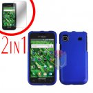 For Samsung Galaxy S 4G Screen Protector +Cover Hard Case Rubberized Blue