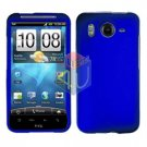 FOR HTC Desire HD Cover Hard Phone Case Rubberized Blue