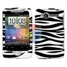 For HTC Wildfire 6225 Cover Hard Case Zebra