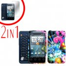 For Motorola Atrix 4G MB860 Cover Hard Case A-Flower + Screen Protector 2-in-1