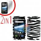 For Motorola Atrix 4G MB860 Cover Hard Case Zebra + Screen Protector 2-in-1