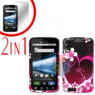 For Motorola Atrix 4G MB860 Cover Hard Case Love + Screen Protector 2-in-1