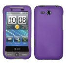 FOR HTC Freestyle Cover Hard Phone Case Rubberized Purple
