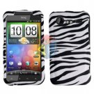 FOR HTC Incredible S Cover Hard Phone Case Zebra