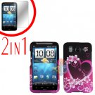 For HTC Inspire 4G Cover Hard Case Love + Screen Protector 2-in-1