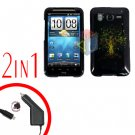 For HTC Inspire 4G Car Charger +Cover Hard Case Dream Tree 2-in-1