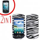 For Samsung Gem i100 Cover Hard Phone Case Zebra + Screen Protector