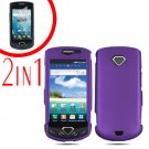 For Samsung Gem i100 Cover Hard Phone Case Purple + Screen Protector