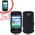 For Samsung Gem i100 Cover Hard Phone Case Black + Screen Protector