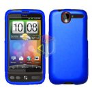 FOR HTC Desire Cover Hard Case Rubberized Blue