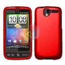 FOR HTC Desire Cover Hard Case Rubberized Red