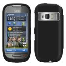 For Nokia C7-00 Cover Hard Case Rubberized Black