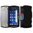 For Sony Ericsson Xperia Play Cover Hard Case Rubberized Black
