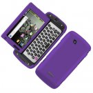 For Samsung Sidekick 4G T839 Cover Hard Phone Case Rubberized Purple