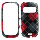For Nokia Astound C7 Cover Hard Case R-Plaid