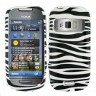 For Nokia Astound C7 Cover Hard Case Zebra