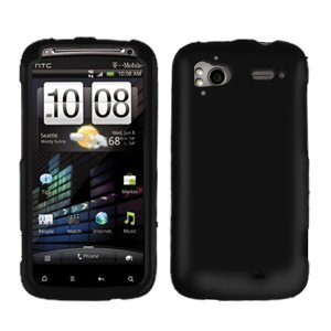 FOR HTC Sensation 4G Cover Hard Phone Case Rubberized Black