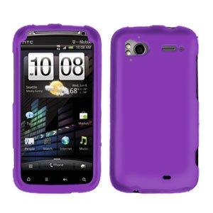 FOR HTC Sensation 4G Cover Hard Phone Case Rubberized Purple