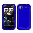 FOR HTC Sensation 4G Cover Hard Phone Case Rubberized Blue