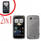 For HTC Sensation Cover Hard Case Clear + Screen Protector 2-in-1