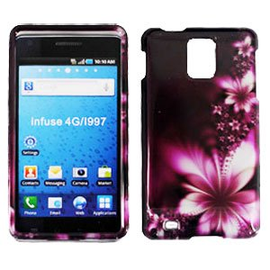 For Samsung Infuse 4G Cover Hard Case L-Flower +Screen Protector