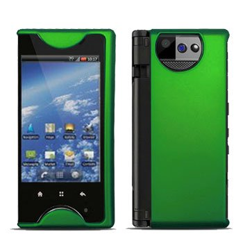 For Kyocera Echo M9300 Cover Hard Case Rubberized Green