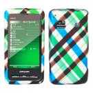 For Samsung Galaxy Prevail Cover Hard Case Plaid