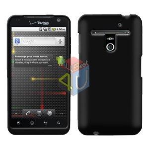 For LG Revolution VS910 Cover Hard Case Rubberized Black