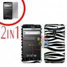 For LG Revolution VS910 Cover Hard Case Zebra + Screen Protector 2-in-1