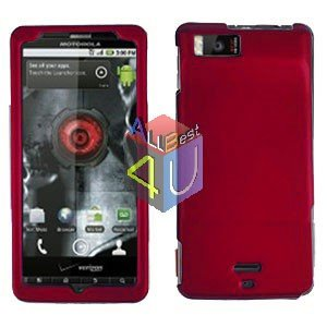 For Motorola Droid X2 Cover Hard Case Rubberized Red