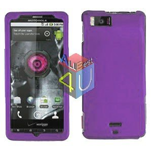 For Motorola Droid X2 Cover Hard Case Rubberized Purple