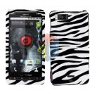 For Motorola Droid X2 Cover Hard Case Zebra