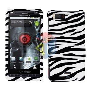 For Motorola Droid X2 Cover Hard Case Zebra