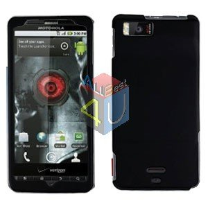 For Motorola Milestone X Cover Hard Case Rubberized Black