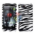 For Motorola Milestone X Cover Hard Case Zebra