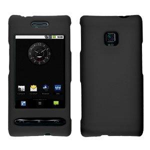 For LG Optimus GT540 Cover Hard Case Rubberized Black