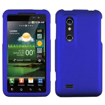 For LG Thrill 4G / Optimus 3D P920 Cover Hard Case Rubberized Blue