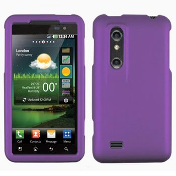 For LG Thrill 4G / Optimus 3D P920 Cover Hard Case Rubberized Purple