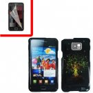 For Samsung Galaxy S II i9100 Cover Hard Case Tree +Screen Protector
