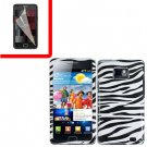 For Samsung Galaxy S II i9100 Cover Hard Case Zebra +Screen Protector